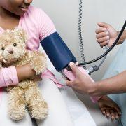 Doctor checking girl